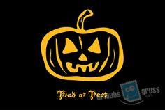 Halloween Postkarte mit Kürbis. Alle Urlaubsgruss.com Halloween Vorlagen findet Ihr in unserer Vorlagen Gallerie auf der Urlaubsgruss.com Webseite und den Urlaubsgruss Apps für iPhone und Android