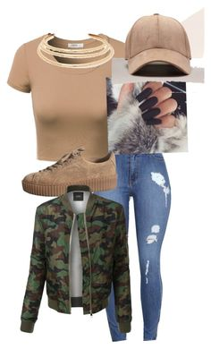 Brown sugar by tupacbaby on Polyvore featuring polyvore, fashion, style, J.TOMSON, LE3NO, Kenneth Jay Lane and clothing