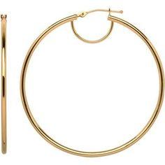 Simply Gold 10kt Yellow Gold Hoop Earrings - Walmart.com