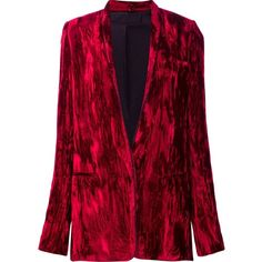 Haider Ackermann 'Madame' jacket (29,625 MXN) ❤ liked on Polyvore featuring outerwear, jackets, red, haider ackermann and red jacket