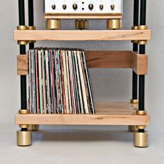 SAMSON Ultra Turntable Stand Finished in Semi Gloss Black-Mapleshade Hifi Stand, Audio Stand, Speaker Stands, Turntable Setup, Diy Rack, Game Room, Man Cave, Gaming, It Is Finished