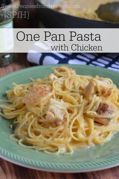 If you like one pan meals, then you must try this One Pan Pasta with Chicken!! Not only is this one pan dish done in just a few minutes, clean up is a BREEZE!!