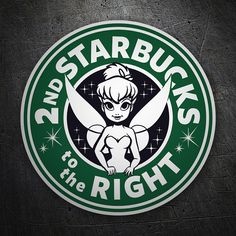 Pegatinas: Starbucks to the right #starbucks #TeleAdhesivo #campanilla