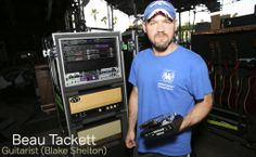 Beau Tackett Guitarist with Blake Shelton http://www.blakeshelton.com