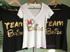 Disney Bride Shirt, Disney Bachelorette Party, Disney Bridesmaid Shirts, Disney Team Bride Shirts, Disney Bachelorette Weekend by ALLWeddingGifts on Etsy