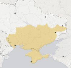 "Ukraine Crisis in Maps - NYTimes.com --- ""In public remarks on Thursday, President Vladimir V. Putin asserted Russia's historical claim to ""Novorossiya,"" or ""New Russia,"" a term that refers to a broad area of modern Ukraine that used to be part of the Russian empire. The territory stretches from the border of Moldova in the west to the Russian border in the east, and includes the port city of Odessa to the south and the industrial center of Dnipropetrovsk in the north."""