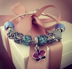 Pandora Bracelet with the new orchid charm