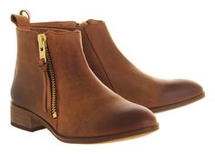 Buy Brown Leather Office Mambo 2 Ankle Boots from OFFICE.co.uk.