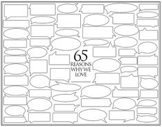 Personalized Birthday Present 65 Reasons We Love by Featherwurm