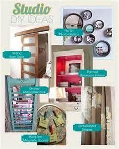 Pie Tin photo display, sliding barn door,painted book case interior, shutter magazine display, pie tray magnet board