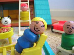 I spent many Sunday afternoons playing with my fisher price people at my grandparents!!
