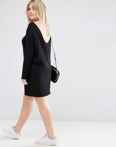 Image 4 ofASOS CURVE Mini Dress with Cowl Back
