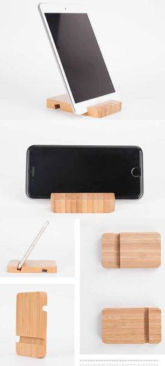 Natural Bamboo Cell Phone Stand/ Holder