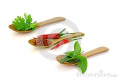 Photo about Mixed Asian spices. Coriander leaves, red chilli and sweet basil leaves on white background. Image of background, table, vegetable - 69050638 Mixed Asian, Leaf Images, Coriander Leaves, Basil Leaves, Red Chilli, Vectors, Spices, Sign, Stock Photos