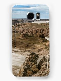 Aerial view of unique arid rocky landscape environment located in the argentinian patagonian in Santa Cruz province, Argentina • Also buy this artwork on phone cases, apparel, stickers, and more.