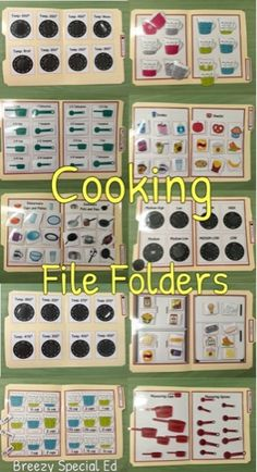 Breezy Special Ed: Kitchen and Cooking File Folders for Special Education