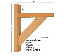 Shelf Bracket Straight 8 4 wood types by Tyler Morris Woodworking Patterns, Woodworking Projects Diy, Woodworking Shop, Woodworking Plans, Woodworking Machinery, Wood Shelf Brackets, Diy Wood Shelves, Diy Shelf Bracket, Wood Types