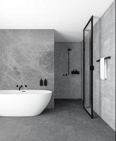 New Yorker Brusevæg uden sprosser Minimalist Bathroom, Minimalist Home, Bathroom Design Luxury, Home Interior Design, Bathroom Renos, Bathroom Wall, Dream Bathrooms, House Rooms, Bathroom Inspiration