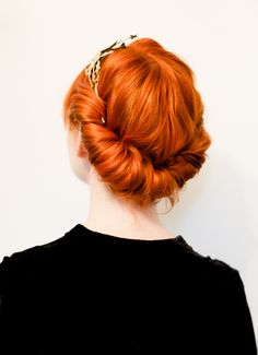 Five minute rolled updo
