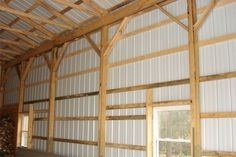 how to frame a pole barn house - Google Search