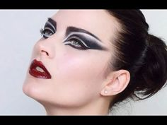 The cut-crease technique in this is AH-mazing. Love this look! Wish I was gutsy enough to actually do it. :P // Punk / Goth inspired Siouxsie Sioux Makeup tutorial - YouTube