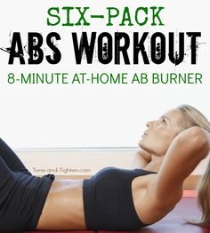 8 Minute Complete Abs Workout - 8 minute workout that's guaranteed to hit your abs from every angle! Six pack abs on Tone-and-Tig - Complete Ab Workout, Full Ab Workout, 8 Minute Workout, 30 Day Ab Workout, Abs Workout Video, Kickboxing Workout, Abs Workout For Women, Workout For Beginners, Fat Workout