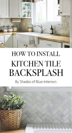 [ How Install Kitchen Tile Backsplash Shades Blue Interiors Held Into Place With Thinset The Wall ] - Best Free Home Design Idea & Inspiration Kitchen Tile Diy, Diy Tile Backsplash, Tile Countertops, Kitchen Redo, Kitchen Remodel, Diy Tiles, Funny Kitchen, Granite Tile, Cuisine