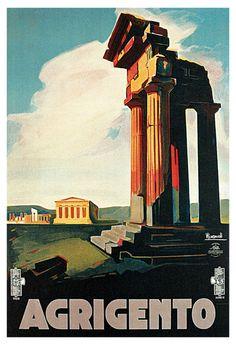 Agrigento vintage poster  #agrigento #sicilia #sicily #sicile
