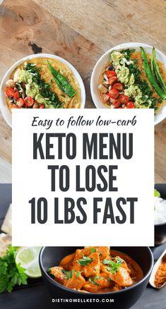 Weekly meal plans 268879040242176465 - Keto Menu to Lose 10 lbs Fast Ketogenic Diet Meal Plan, Ketogenic Diet For Beginners, Keto Meal Plan, Ketogenic Recipes, Diet Recipes, Healthy Recipes, Diet Meals, Diet Foods, Clean Recipes