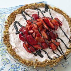 Strawberry Ice Cream Pie with Pretzel Crust | MyRecipes.com