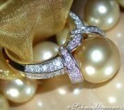 Herrlicher Südseeperle Brillanten Ring image