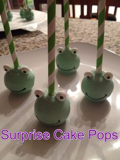 Frog cake pops - Facebook: Simply Fab & Chic or Instagram @ Simply Fab Chic