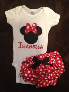 Hey, I found this really awesome Etsy listing at https://www.etsy.com/listing/123344818/minnie-mouse-applique-monogram-onesie