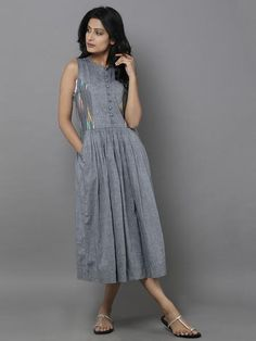 Love this grey ikat cotton (theloom.in)