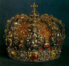 Queen's Consort Crown or Crown of Queen Christina and Queen Maria Eleonora, Sweden (1620; diamonds, rubies, gold, enamel).