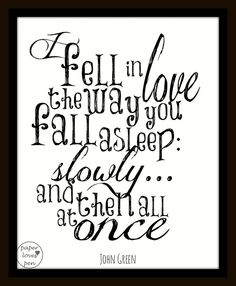 """John Green """"The Fault in our Stars"""" Quote 8X10 Typography on Etsy, $15.00"""