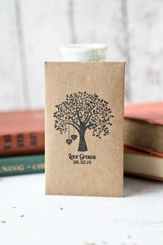 50 Customized Eco-Friendly Love Grows Wedding Seed Favor Envelopes on Etsy, $44.08 AUD