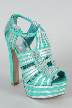 Idea Snake Cut-Out Platform Sandal...love the colors