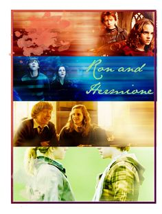 """""""R/H forever"""" by truthful ❤ liked on Polyvore featuring art and ron hermione pretty fashion forever always gryffindor harry potter cute smile rupert emma"""