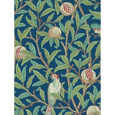 Buy Morris & Co Bird and Pomegranate Wallpaper Online at johnlewis.com