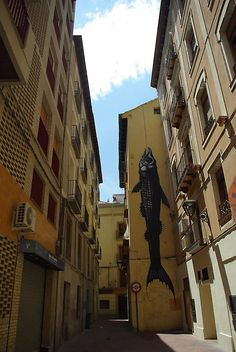 mural art of dead and dying animals by ROA