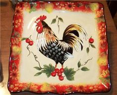 Love this rooster plate!