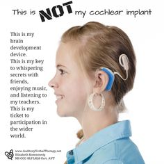 """Not all Deaf people need to get cochlear implants! They can enjoy life while still being deaf! I don't like this mushy """"cure"""" stuff (I'm autistic so I've heard a similar rhetoric). Hearing Impairment, Deaf Children, Human Ear, Human Body Unit, Deaf Culture, Disability Awareness, Hearing Aids, Dental Health, Ears"""