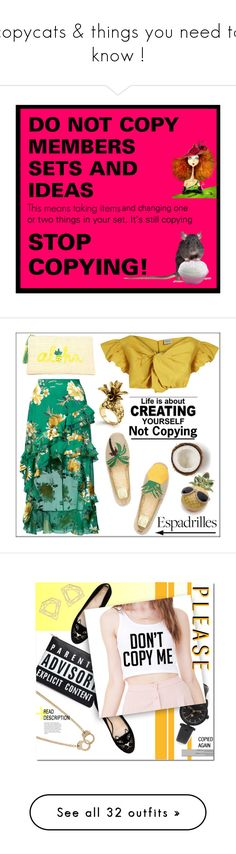 """""""copycats & things you need to know !"""" by countrycousin ❤ liked on Polyvore featuring Beauty, Home, art, Rachel Comey, Alice + Olivia, Kayu, Tory Burch, New Directions, Ann Taylor and country"""