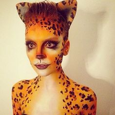 Beautiful leopard makeup
