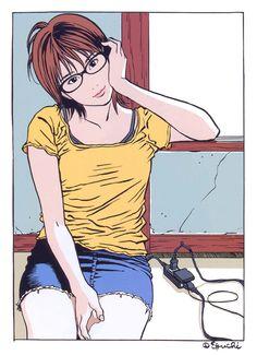 m@m — 江口寿史-「ビジョメガネ」2 イラスト(2006)