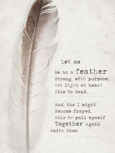 Be light as a feather and think positive :) Feather Quotes, Quotes About Feathers, Quotes To Live By, Me Quotes, Qoutes, Queen Quotes, Happy Quotes, Wisdom Quotes, Feather Meaning