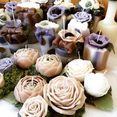 bougie fleur : 画像