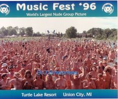 Music Fest 1996 World's largest nude group photo Rare