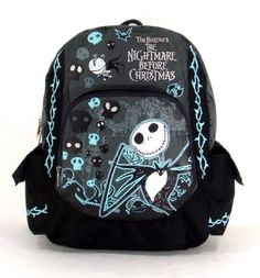 Tim Burton& the Nightmare Before Christmas - Large Backpack - Skull Head
